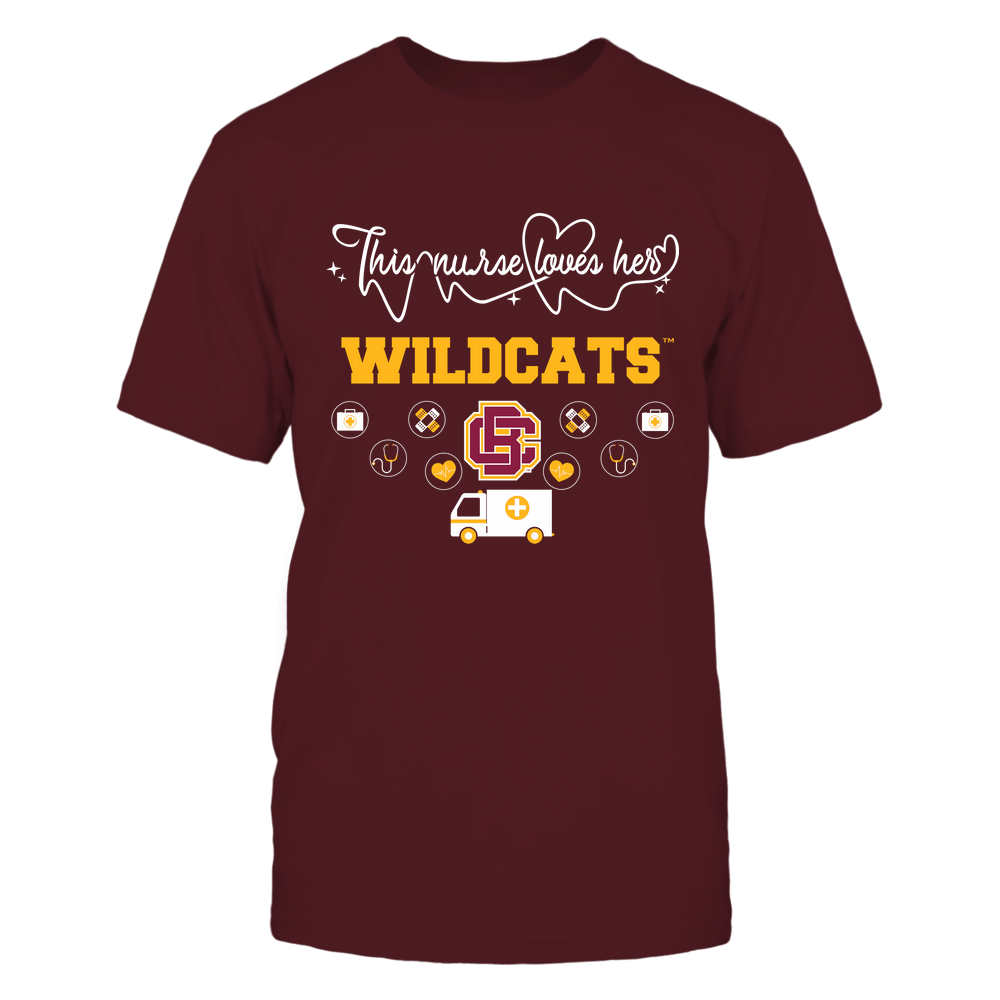 Bethune-Cookman Wildcats - Nurse Loves Team - Mascot Pattern - Team Front picture