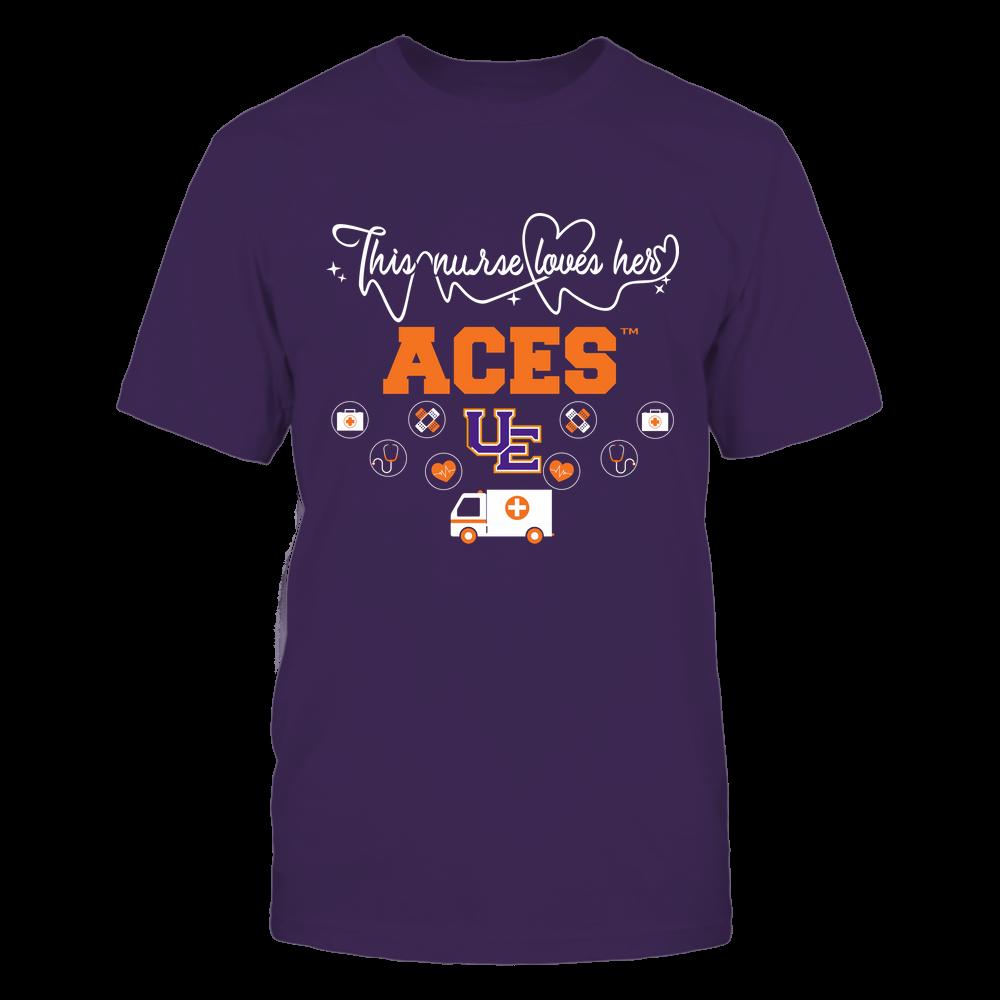 Evansville Purple Aces - Nurse Loves Team - Mascot Pattern - Team Front picture