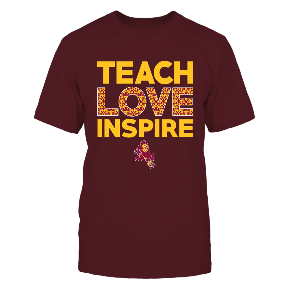 Arizona State Sun Devils - Teach Love Inspire - Brocade Pattern - IF78-IC78-DS84 Front picture