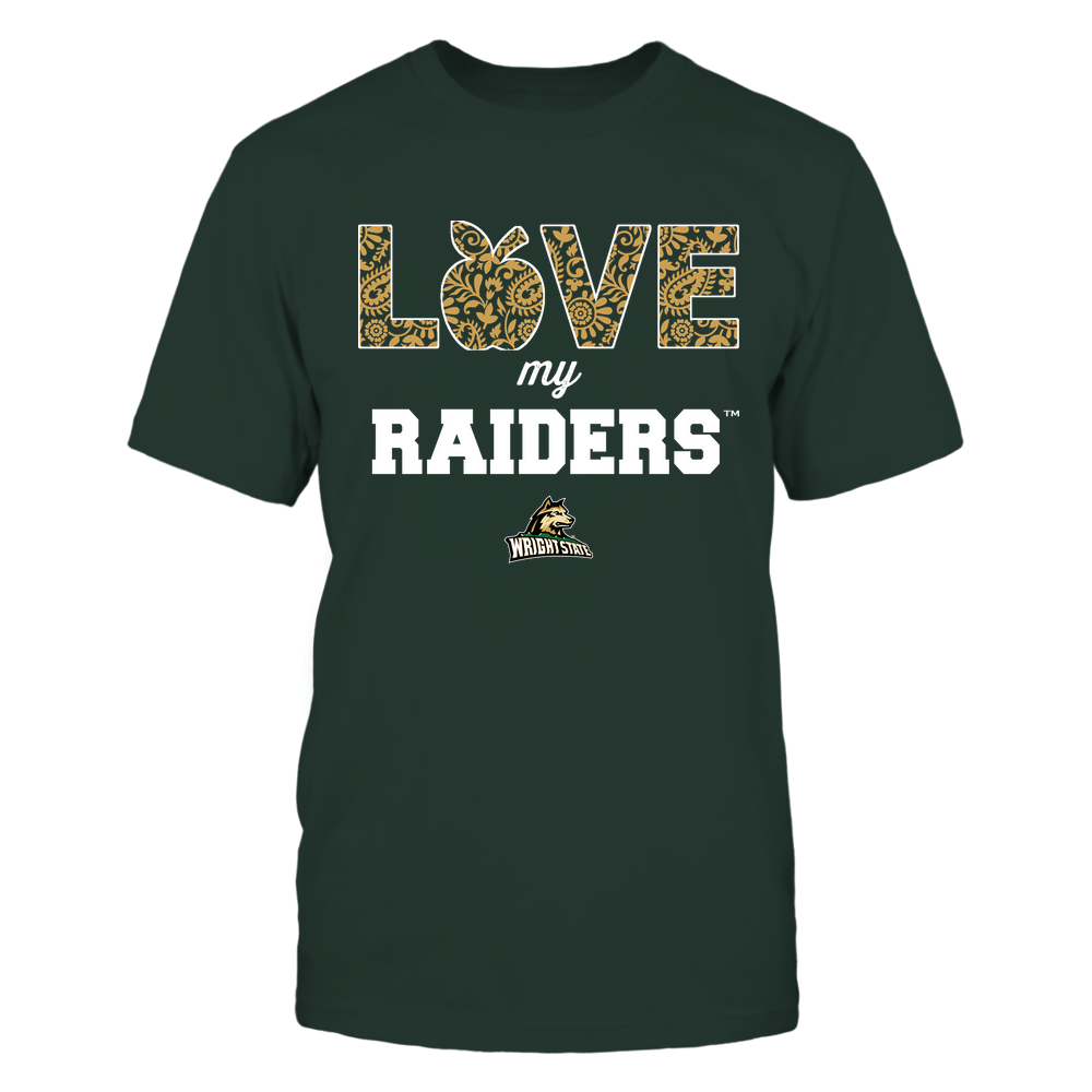 Wright State Raiders - Teacher - Love My Team - Paisley Pattern Front picture