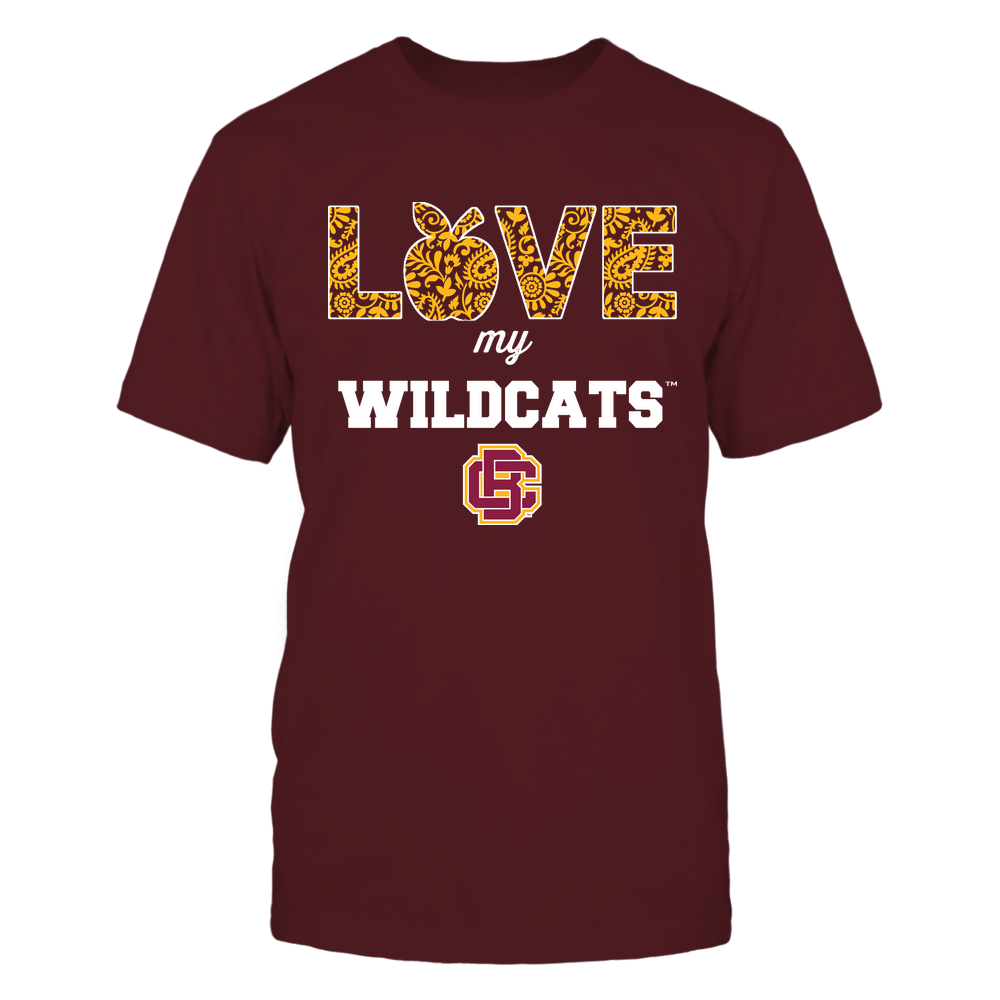 Bethune-Cookman Wildcats - Teacher - Love My Team - Paisley Pattern Front picture