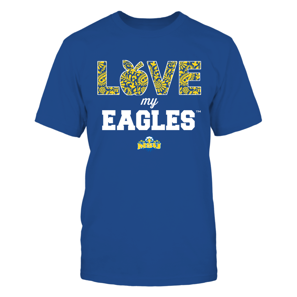 Morehead State Eagles - Teacher - Love My Team - Paisley Pattern Front picture