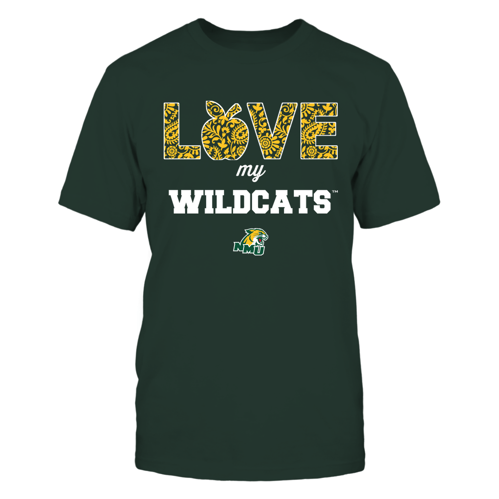Northern Michigan Wildcats - Teacher - Love My Team - Paisley Pattern Front picture