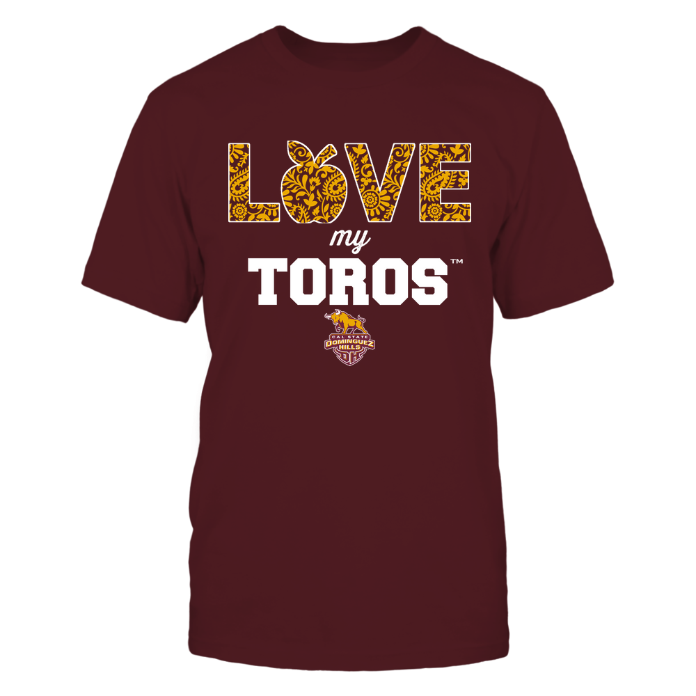 Cal State Dominguez Hills Toros - Teacher - Love My Team - Paisley Pattern Front picture