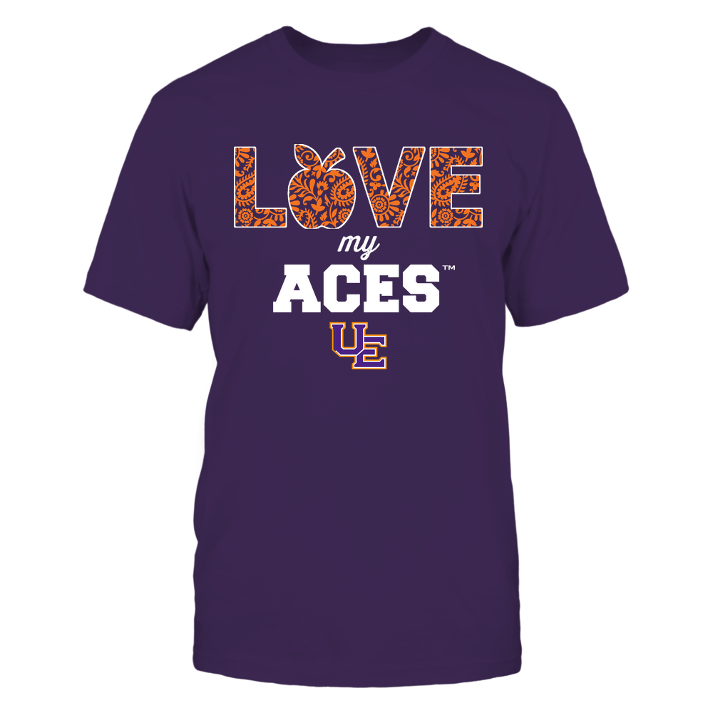 Evansville Purple Aces - Teacher - Love My Team - Paisley Pattern Front picture
