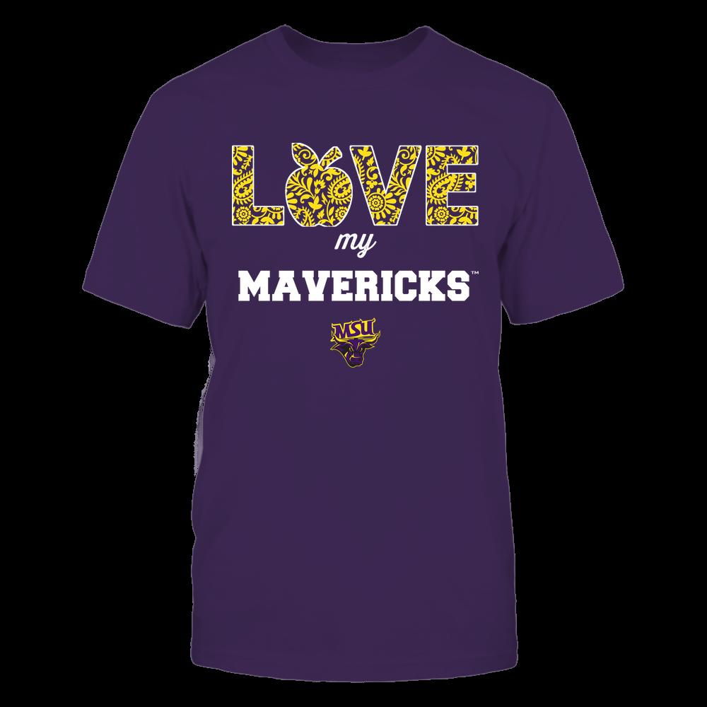 Minnesota State Mavericks - Teacher - Love My Team - Paisley Pattern Front picture