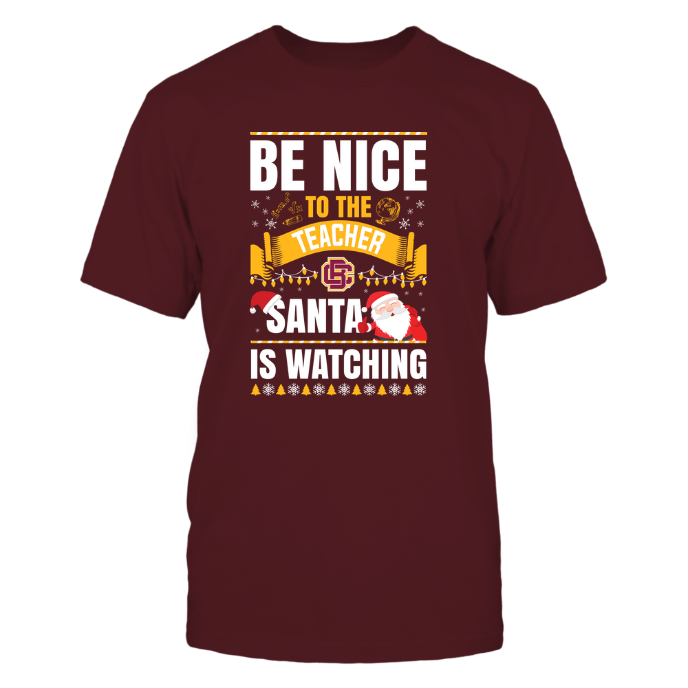 Bethune-Cookman Wildcats - Christmas - Be Nice To The Teacher - Santa Is Watching - Team Front picture
