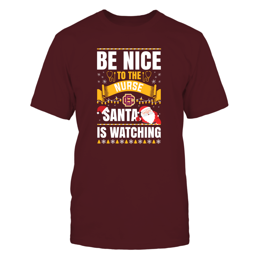 Bethune-Cookman Wildcats - Christmas - Be Nice To The Nurse - Santa Is Watching - Team Front picture