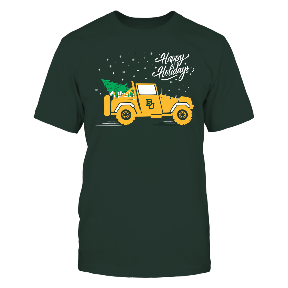 Baylor Bears - Happy Holidays - Christmas Jeep Tree - Team Front picture