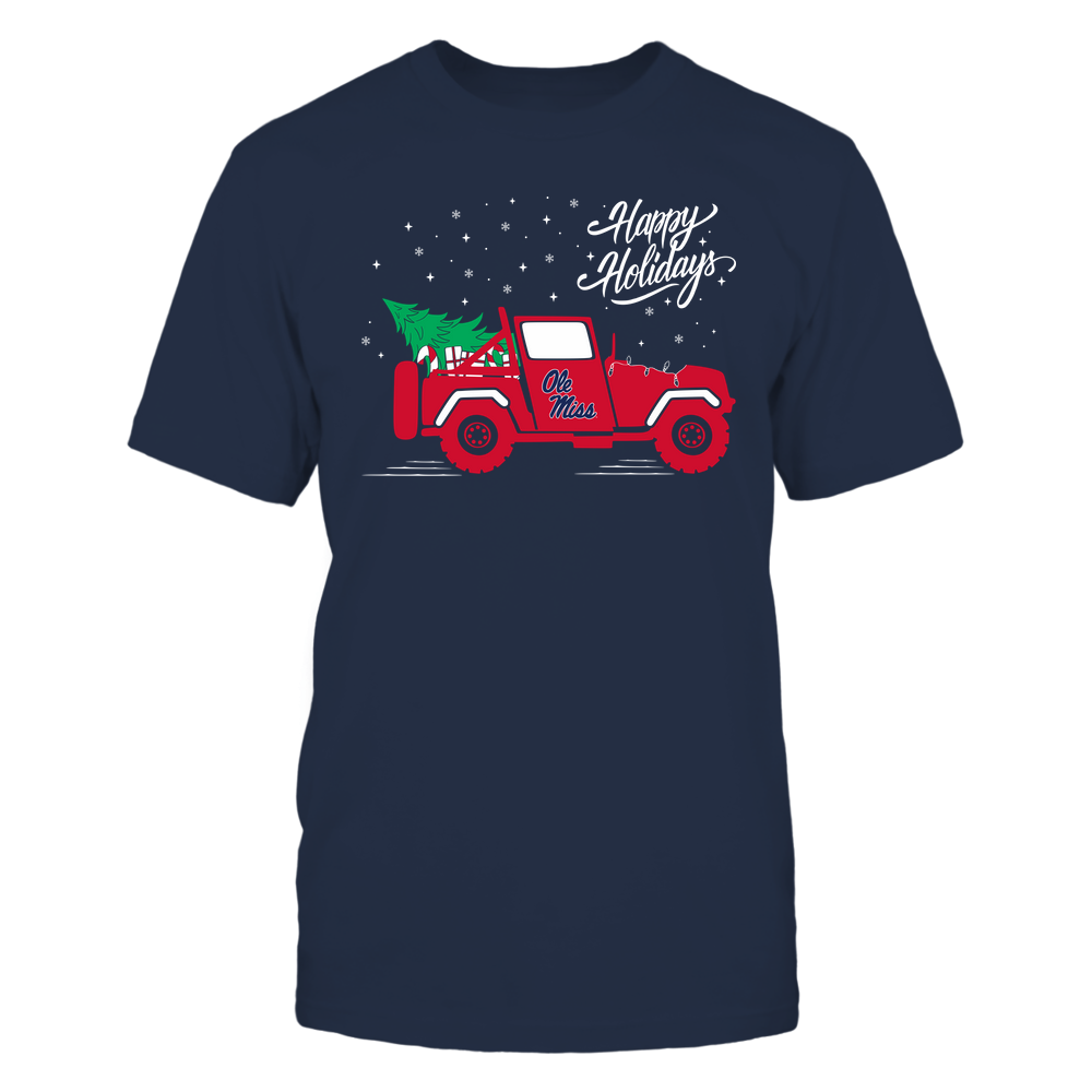 Ole Miss Rebels - Happy Holidays - Christmas Jeep Tree - Team Front picture