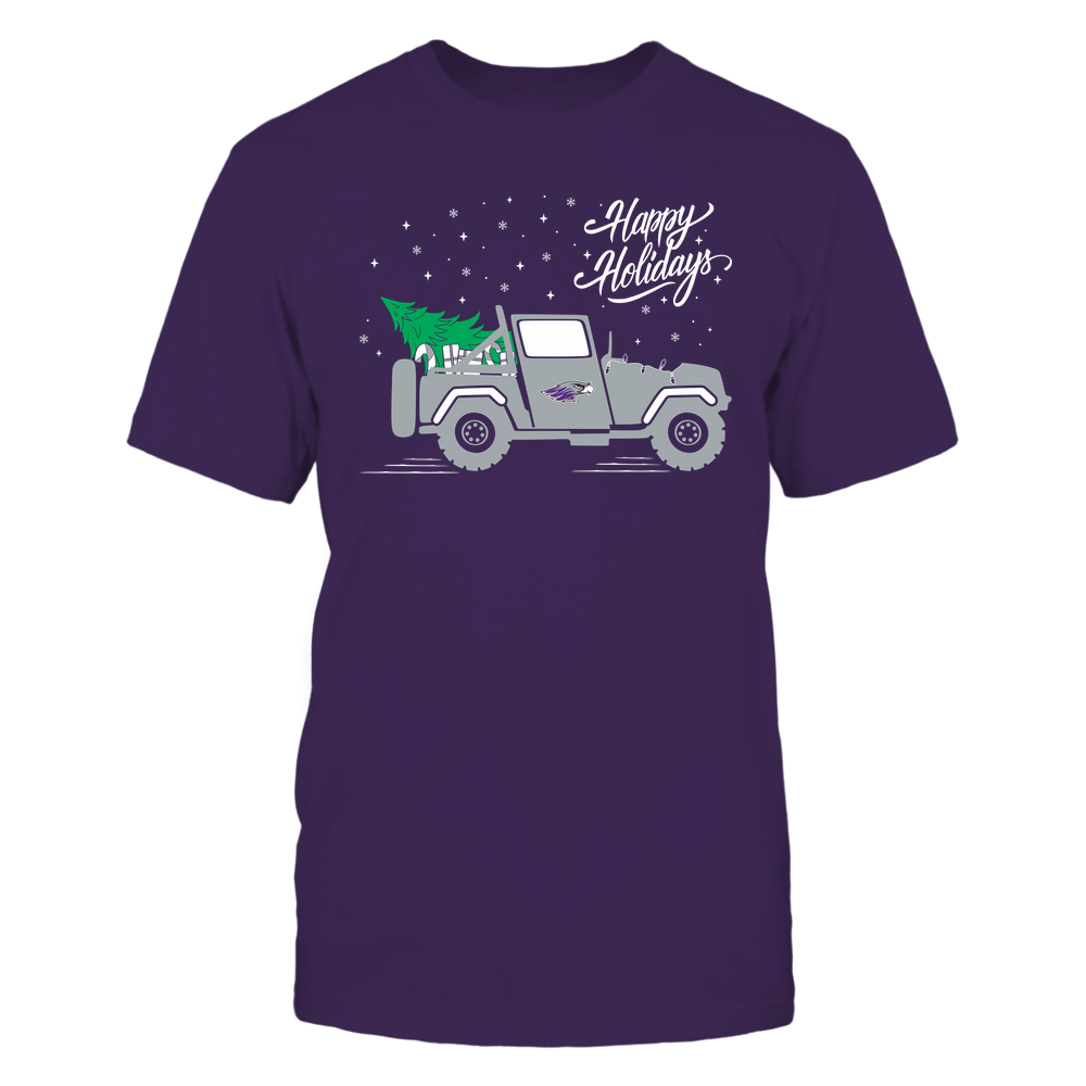 Wisconsin-Whitewater Warhawks - Happy Holidays - Christmas Jeep Tree - Team Front picture
