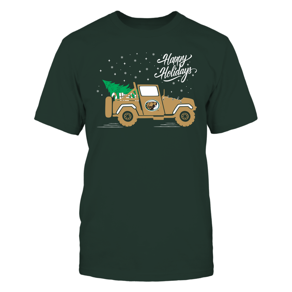 Bemidji State Beavers - Happy Holidays - Christmas Jeep Tree - Team Front picture