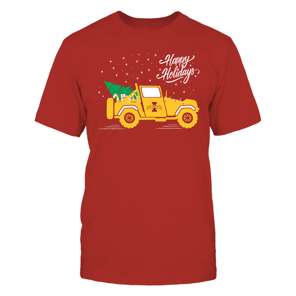 Iowa State Cyclones - Happy Holidays - Christmas Jeep Tree - Team Front picture