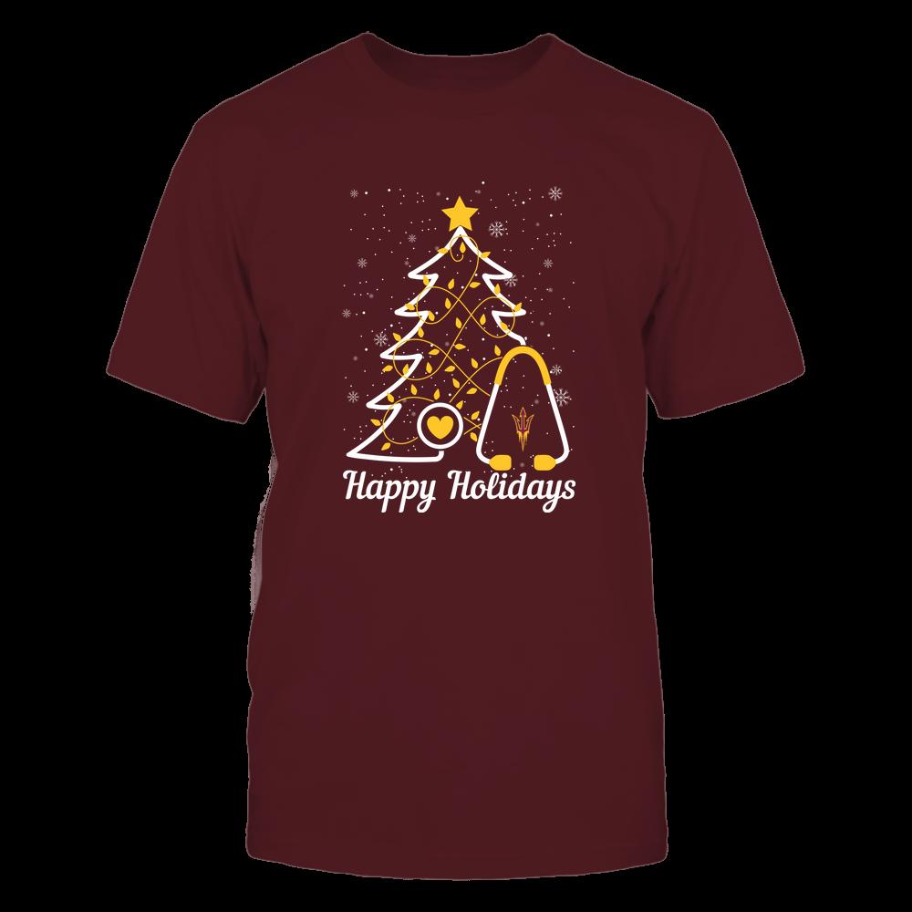 Arizona State Sun Devils - Christmas - Christmas Tree Nurse - Happy Holidays Front picture
