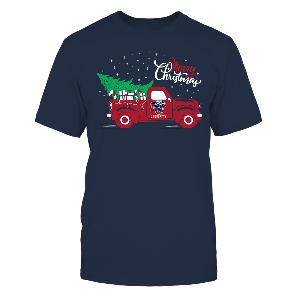 Liberty Flames - Happy Holidays - Christmas Truck Tree - Team Front picture