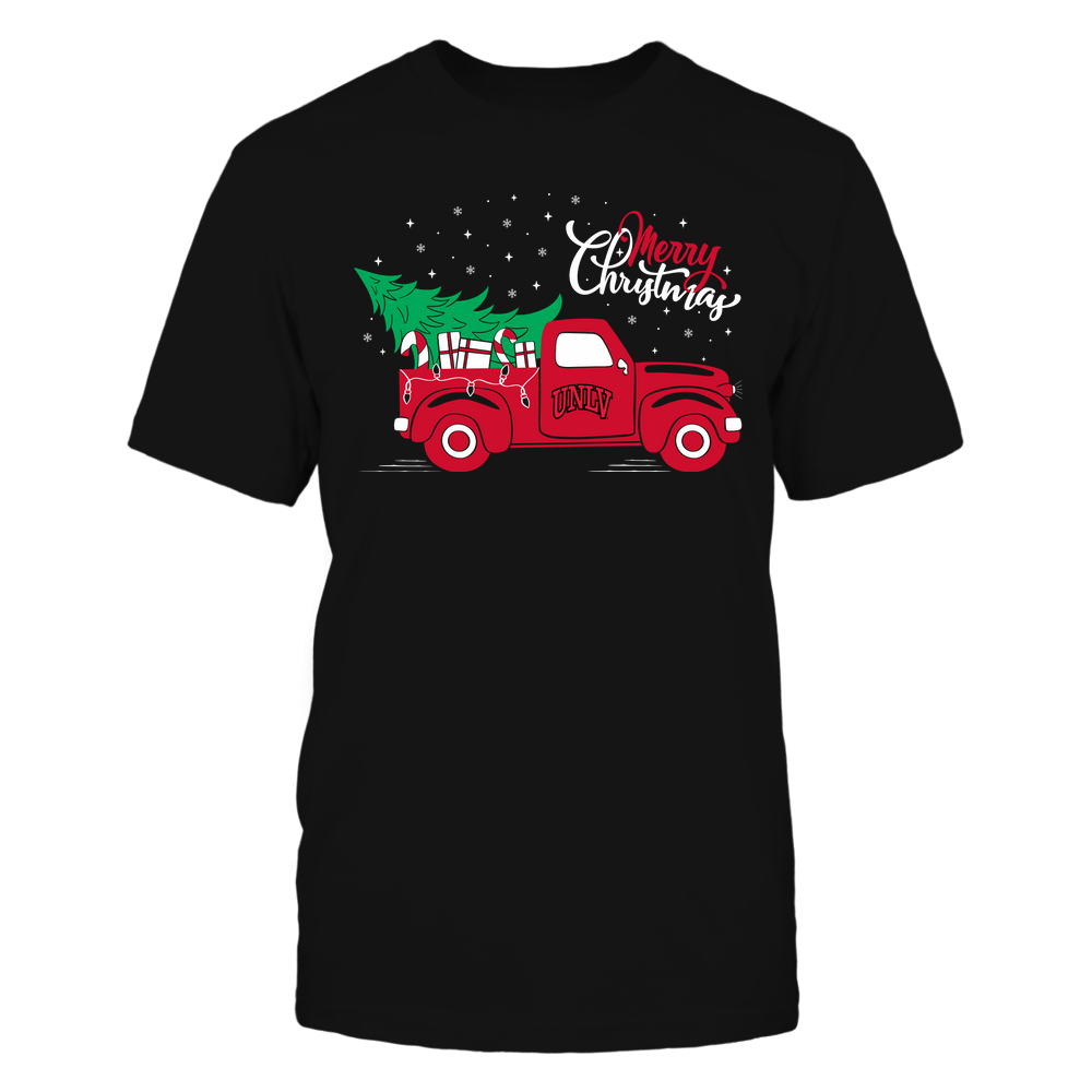 UNLV Rebels - Happy Holidays - Christmas Truck Tree - Team Front picture