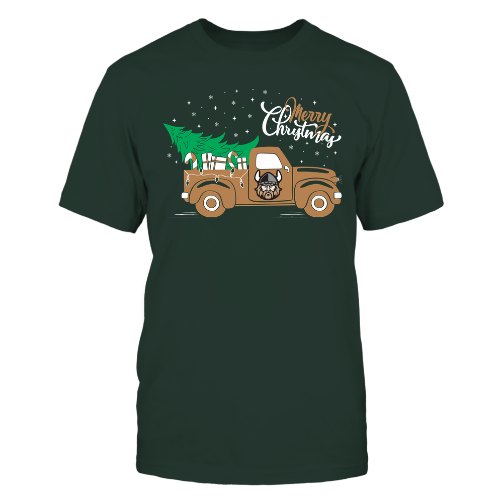 Cleveland State Vikings - Happy Holidays - Christmas Truck Tree - Team Front picture
