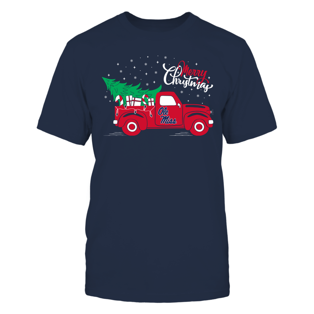 Ole Miss Rebels - Happy Holidays - Christmas Truck Tree - Team Front picture