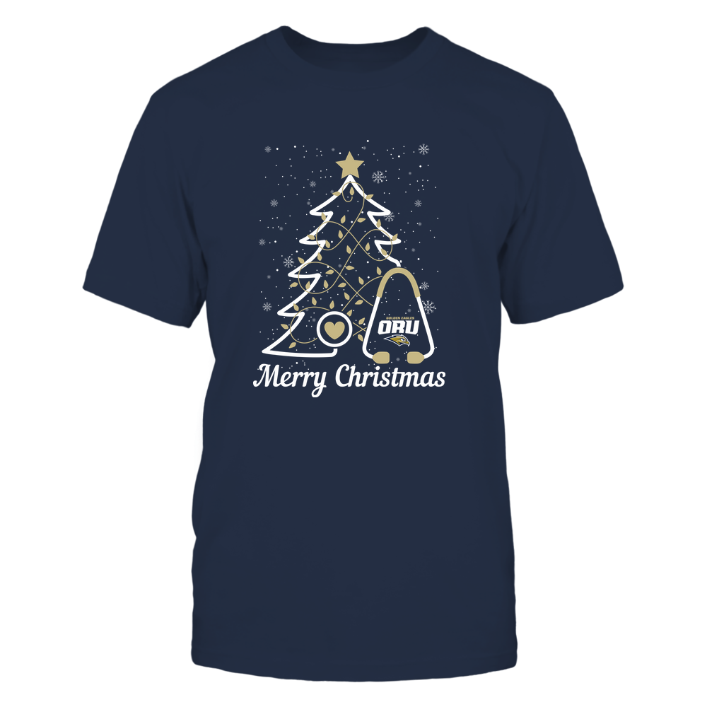 Oral Roberts Golden Eagles - Christmas Tree Nurse - Merry Christmas - Team Front picture