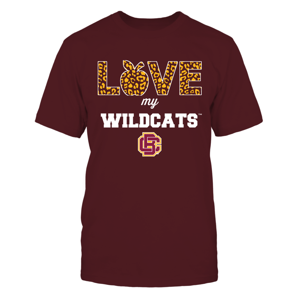 Bethune-Cookman Wildcats - Teacher - Love My Team - Leopard Pattern Front picture