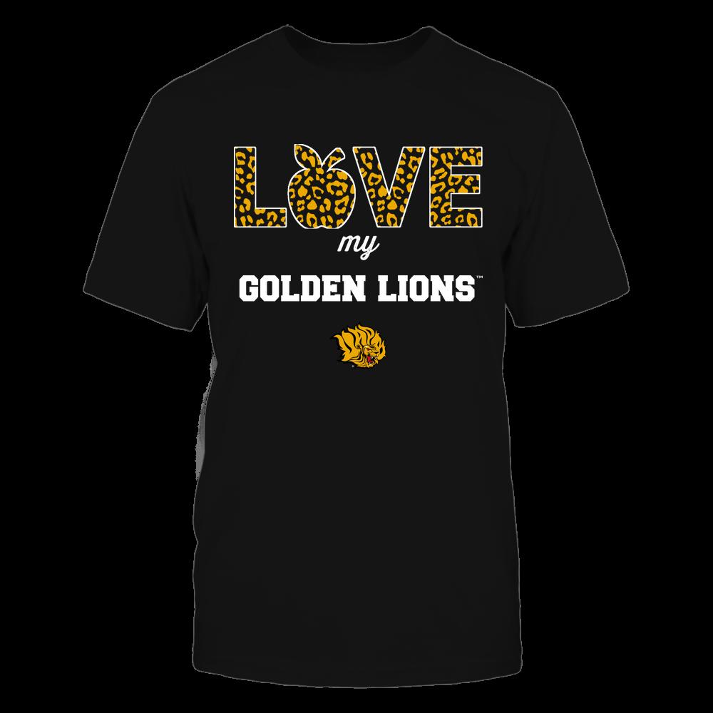 Arkansas Pine Bluff Golden Lions - Teacher - Love My Team - Leopard Pattern Front picture