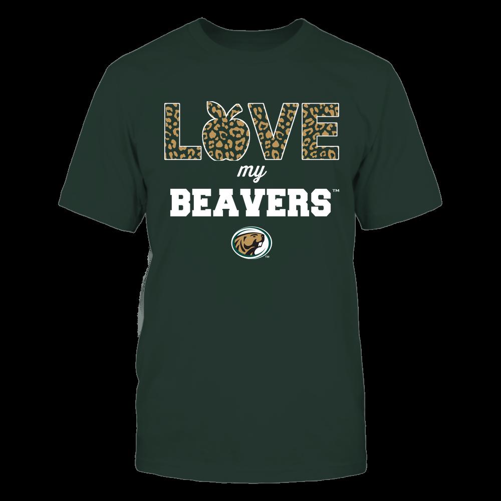 Bemidji State Beavers - Teacher - Love My Team - Leopard Pattern Front picture