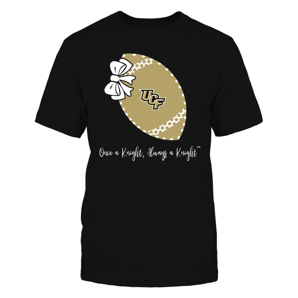 UCF Knights - Football Bow - Polka Dots - Slogan Front picture