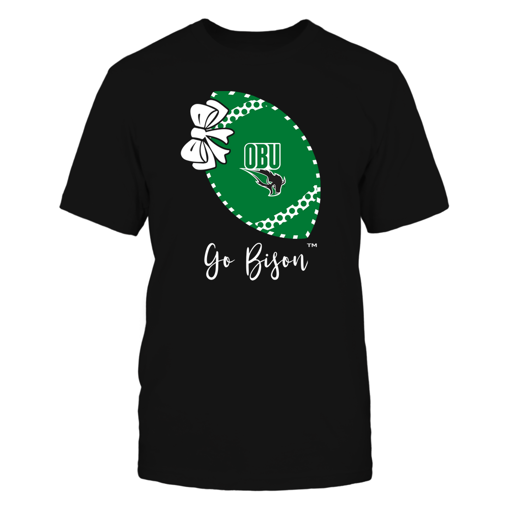Oklahoma Baptist Bison - Football Bow - Polka Dots - Slogan Front picture