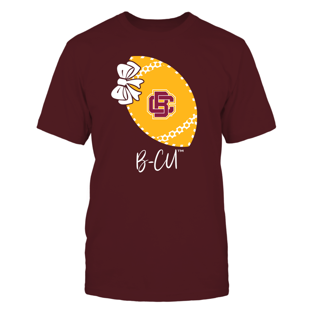 Bethune-Cookman Wildcats - Football Bow - Polka Dots - Slogan Front picture