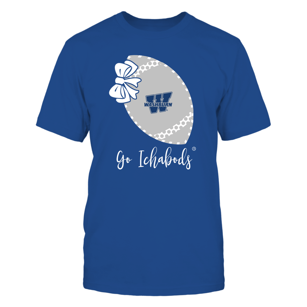 Washburn Ichabods - Football Bow - Polka Dots - Slogan Front picture