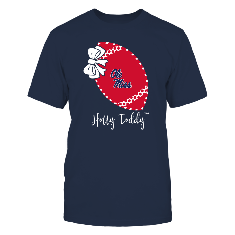 Ole Miss Rebels - Football Bow - Polka Dots - Slogan Front picture