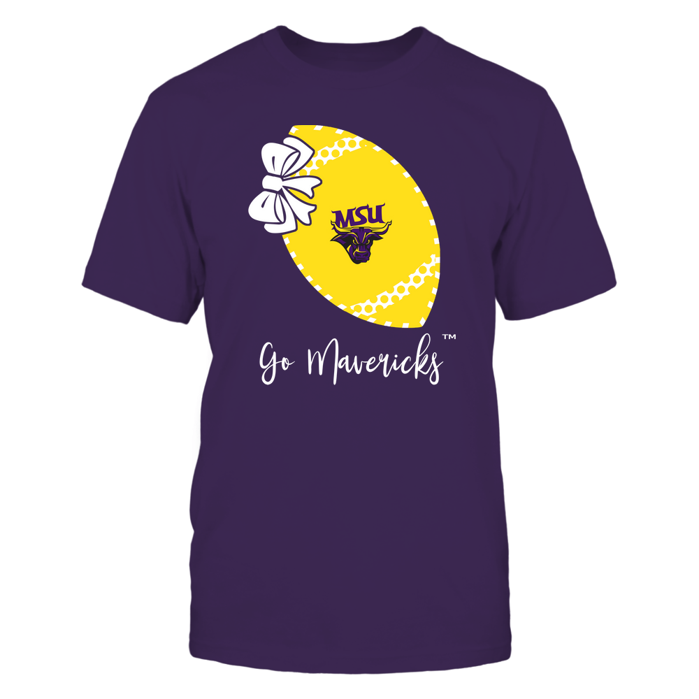 Minnesota State Mavericks - Football Bow - Polka Dots - Slogan Front picture