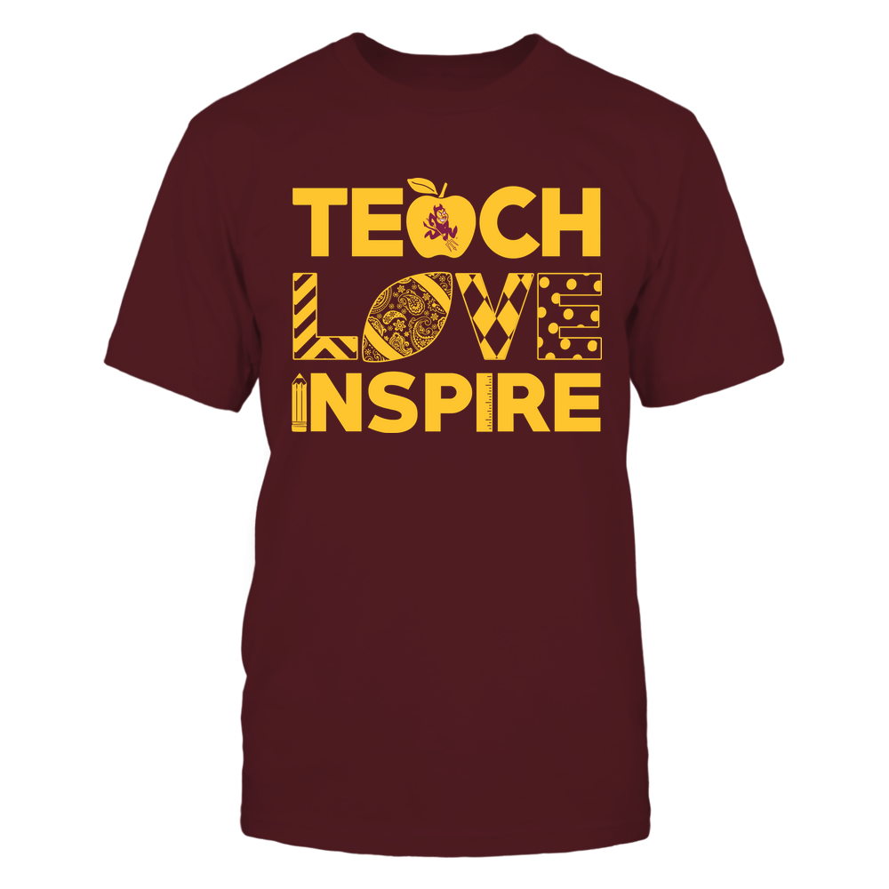 Arizona State Sun Devils - Teacher - Teach Love Inspire - Football - IF13-IC13-DS83 Front picture