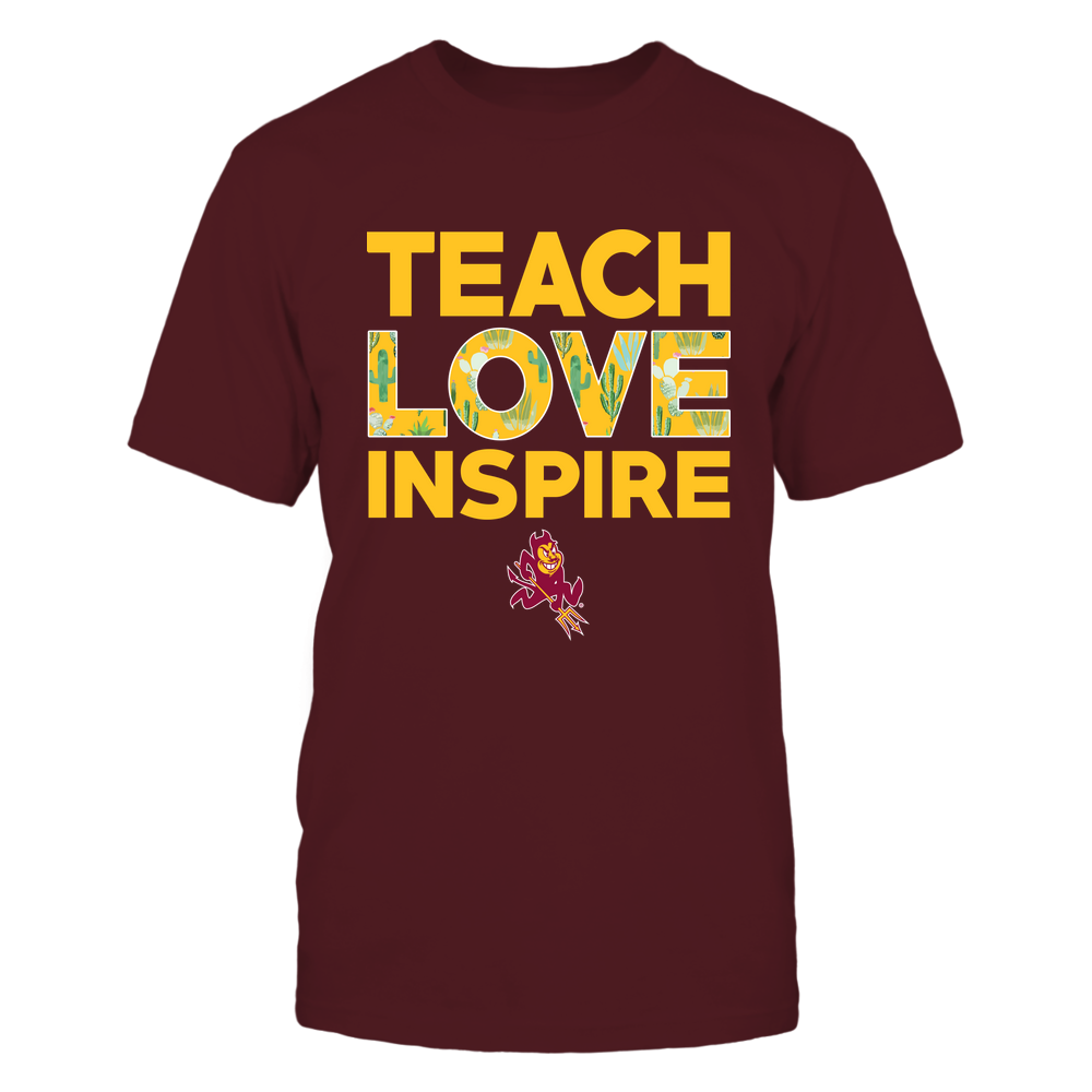 Arizona State Sun Devils - Cactus Pattern - Teach Love Inspire - IF82-IC82-DS85 Front picture