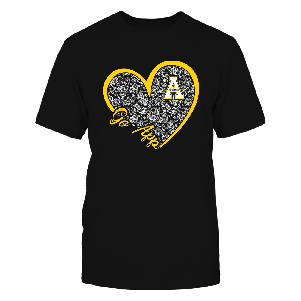 Appalachian State Mountaineers - Heart 3 - 4 - Paisley - IF32-IC32-DS63 Front picture
