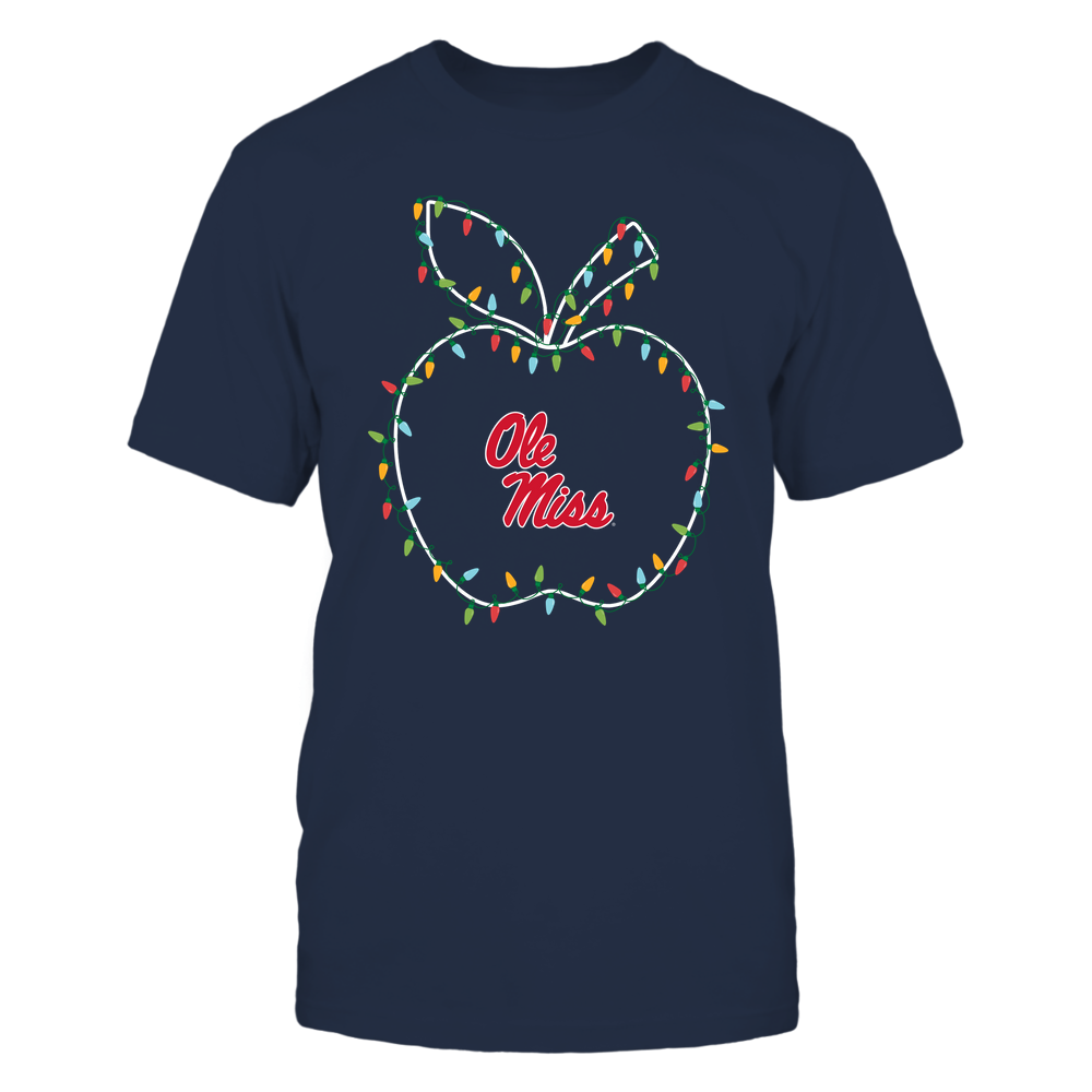Ole Miss Rebels - Christmas - Teacher Apple - Christmas Lights Front picture