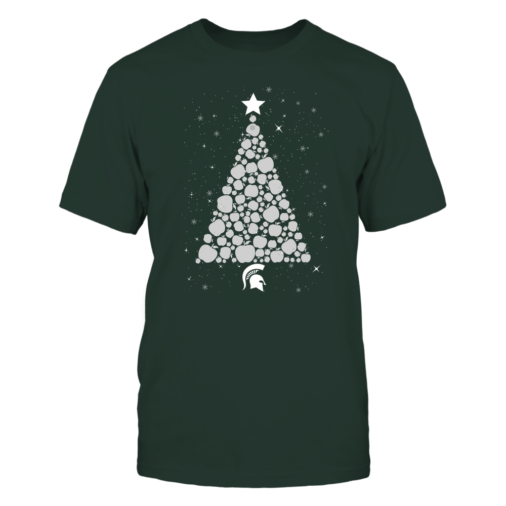 Michigan State Spartans - Christmas - Apple Christmas Tree - Team Front picture