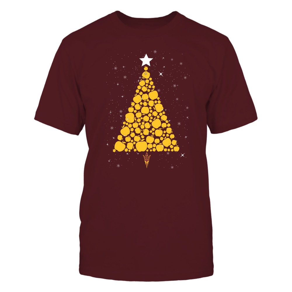 Arizona State Sun Devils - Christmas - Apple Christmas Tree - Team Front picture