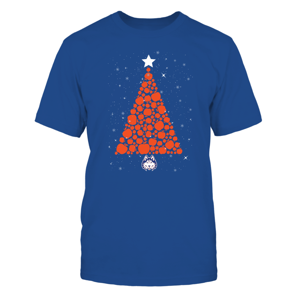 Houston Baptist Huskies - Christmas - Apple Christmas Tree - Team Front picture