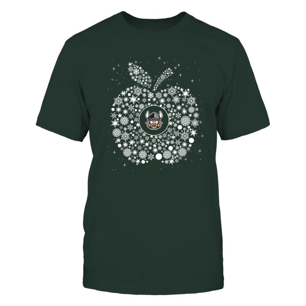Cleveland State Vikings - Christmas - Teacher - Snowflake Apple - Team Front picture