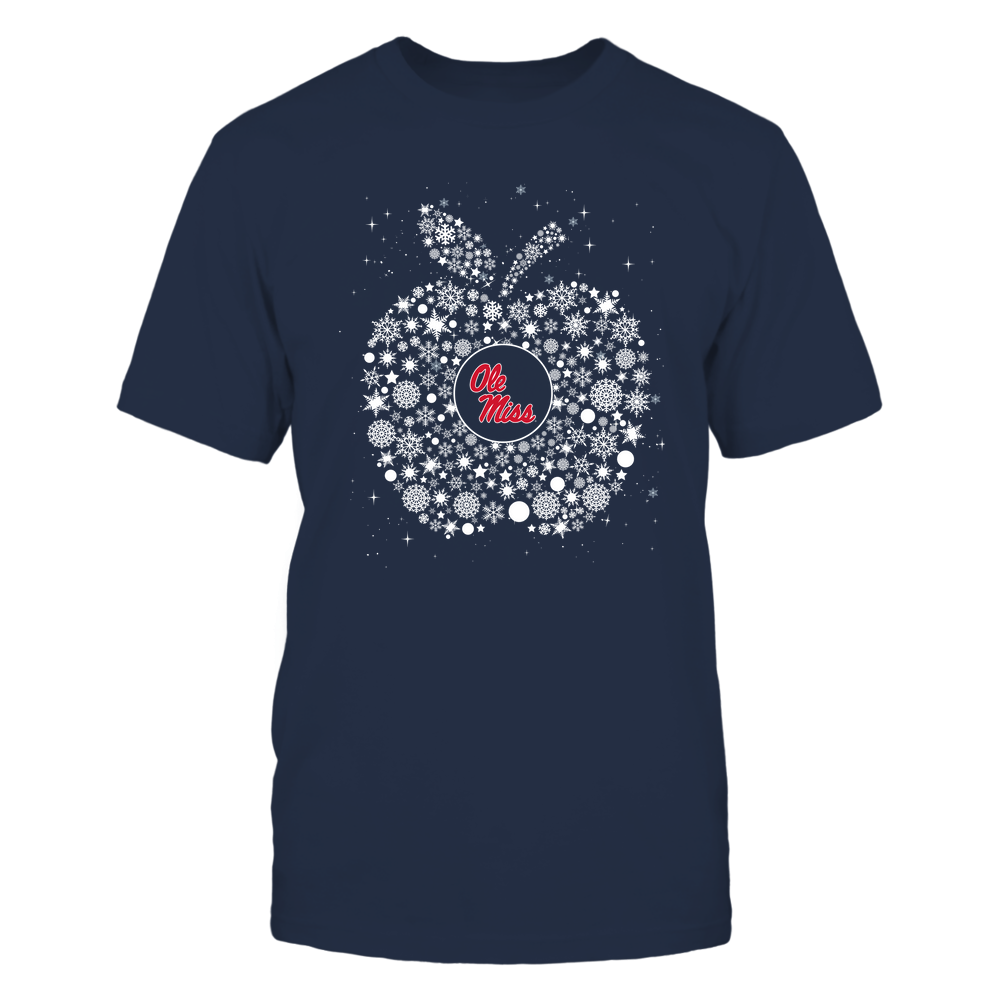 Ole Miss Rebels - Christmas - Teacher - Snowflake Apple - Team Front picture