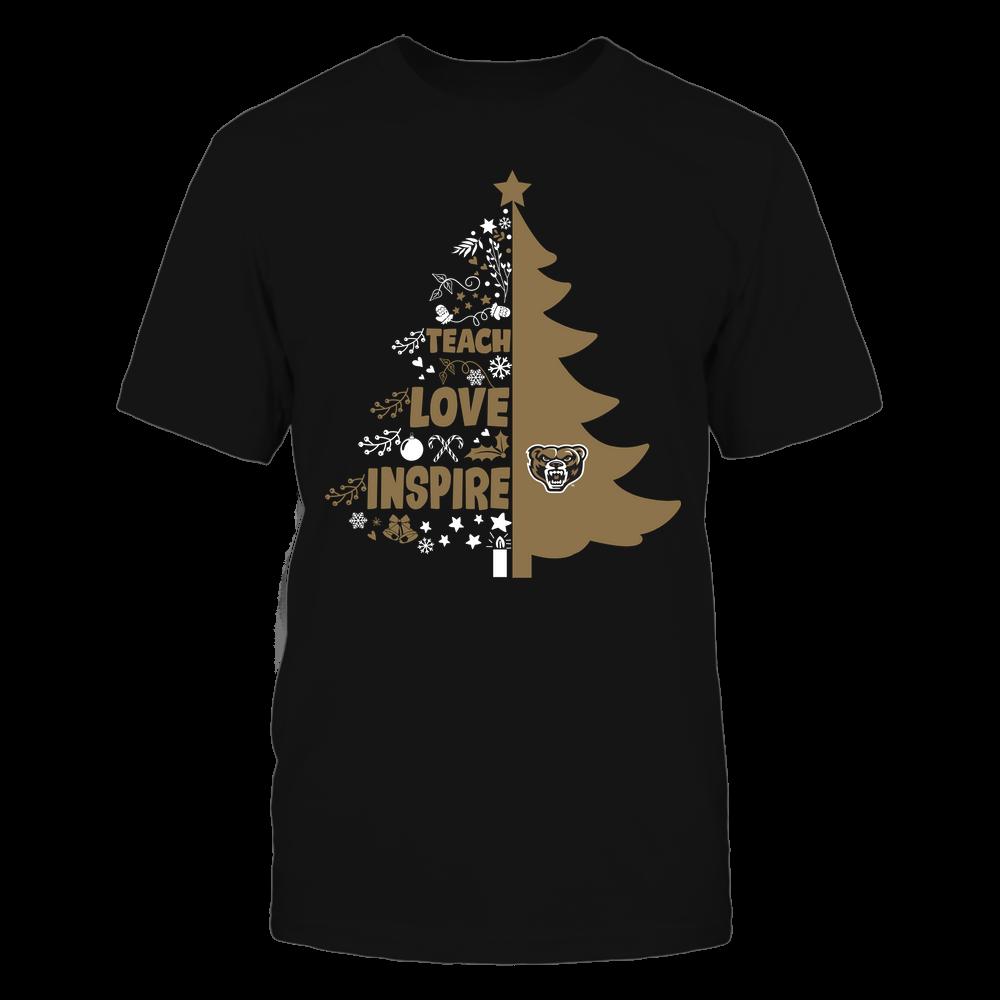 Oakland Golden Grizzlies - Christmas - Teacher - Teach Love Inspire Christmas Tree Front picture