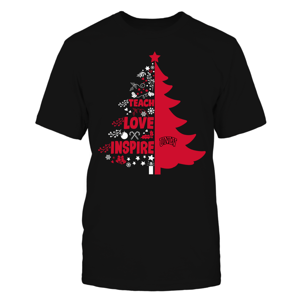 UNLV Rebels - Christmas - Teacher - Teach Love Inspire Christmas Tree Front picture