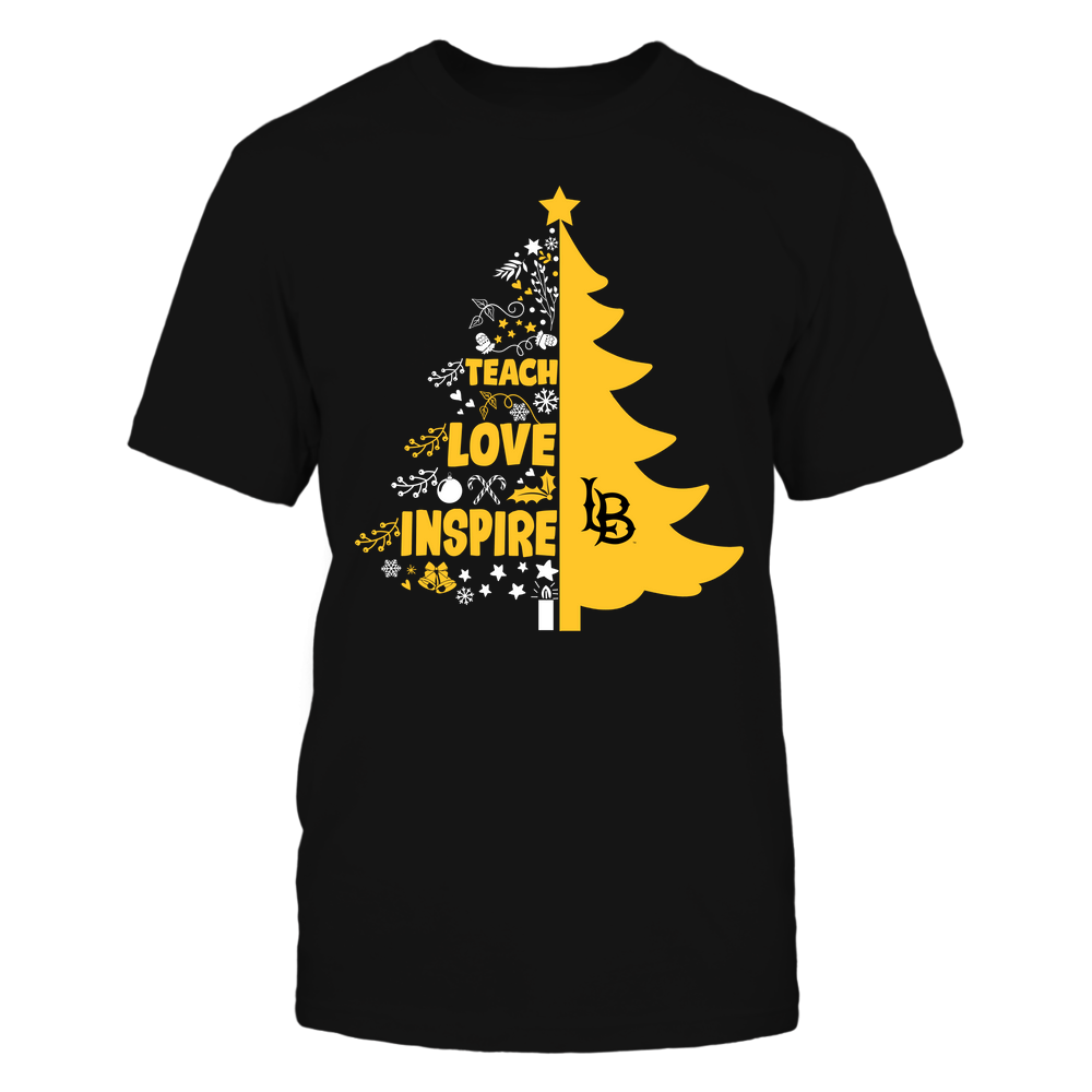 Long Beach State 49ers - Christmas - Teacher - Teach Love Inspire Christmas Tree Front picture