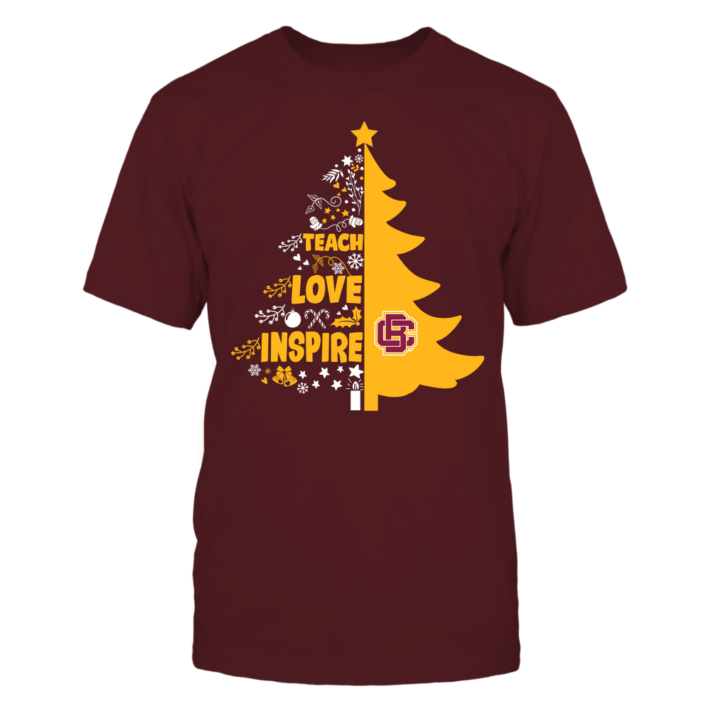 Bethune-Cookman Wildcats - Christmas - Teacher - Teach Love Inspire Christmas Tree Front picture