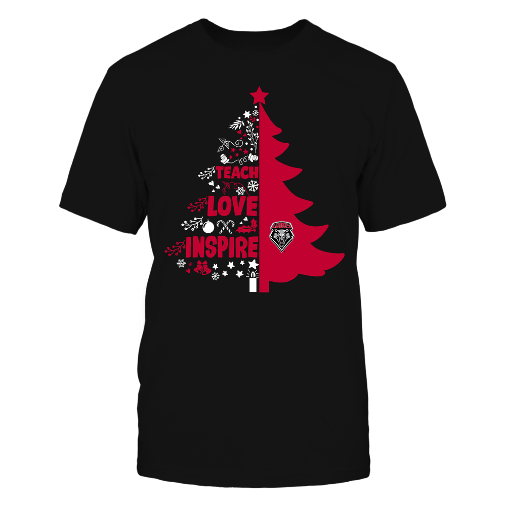 New Mexico Lobos - Christmas - Teacher - Teach Love Inspire Christmas Tree Front picture