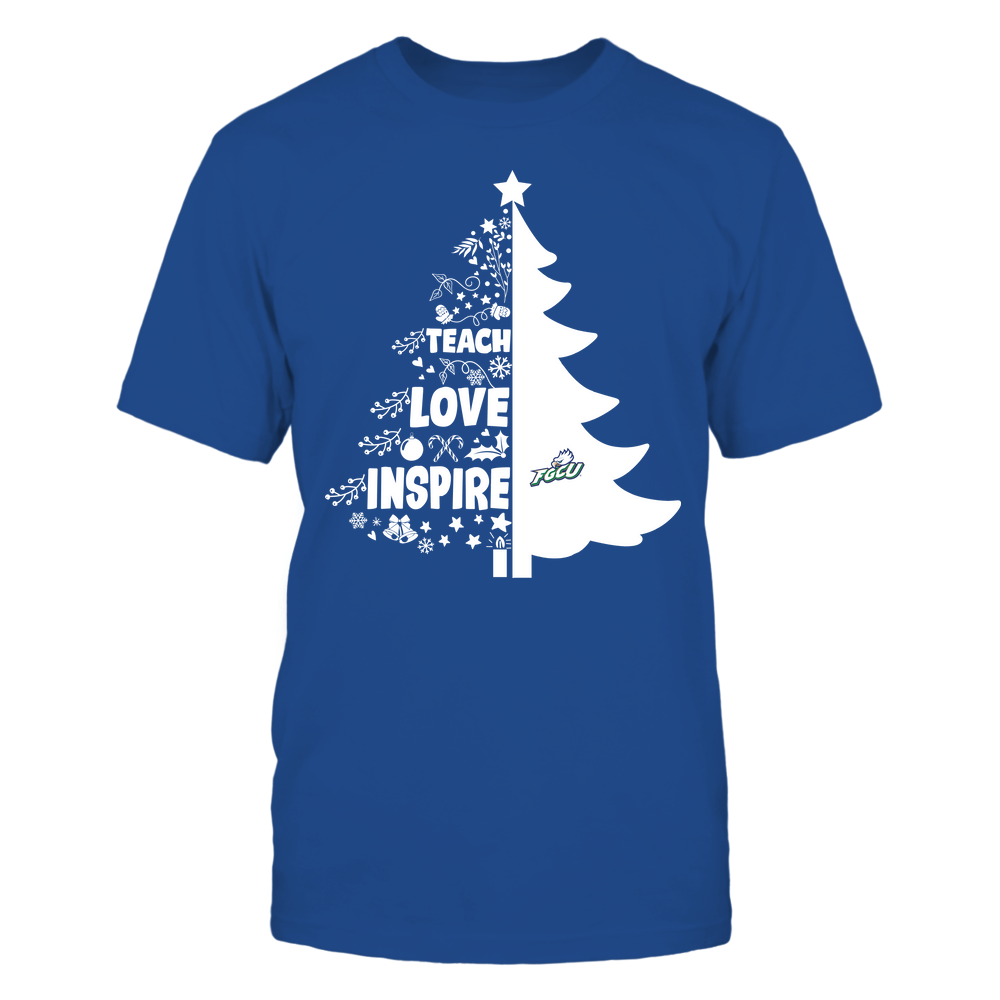 Florida Gulf Coast Eagles - Christmas - Teacher - Teach Love Inspire Christmas Tree Front picture