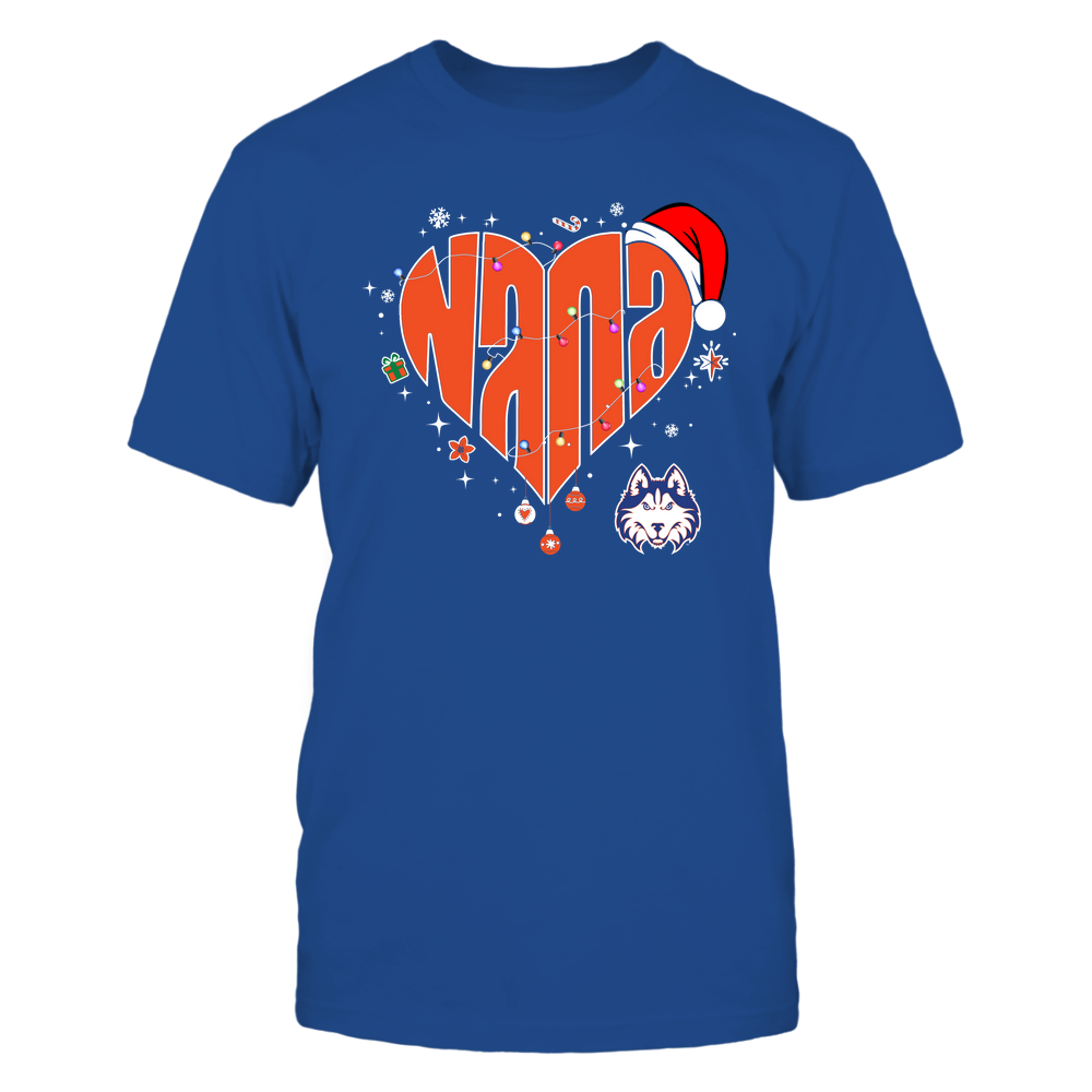Houston Baptist Huskies - Chrismas - Nana Heart Shape - Team Front picture