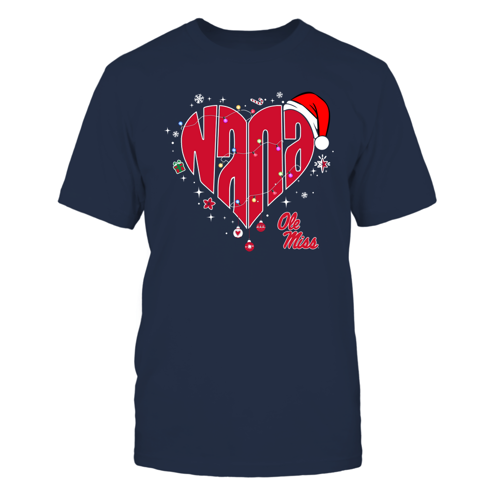 Ole Miss Rebels - Chrismas - Nana Heart Shape - Team Front picture