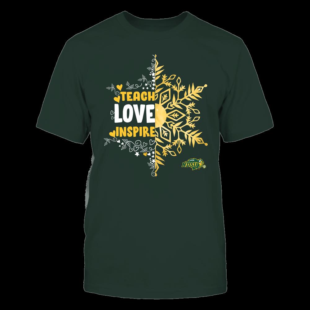 North Dakota State Bison - Christmas - Teach Love Inspire - Half Snowflake Front picture